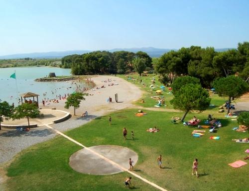 Baignade au lac de Jouarres